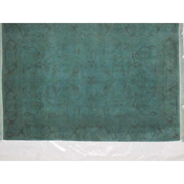 """Leon Banilivi Over-Dyed Green Wool Rug - 6' X 4'3"""" - Image 3 of 5"""
