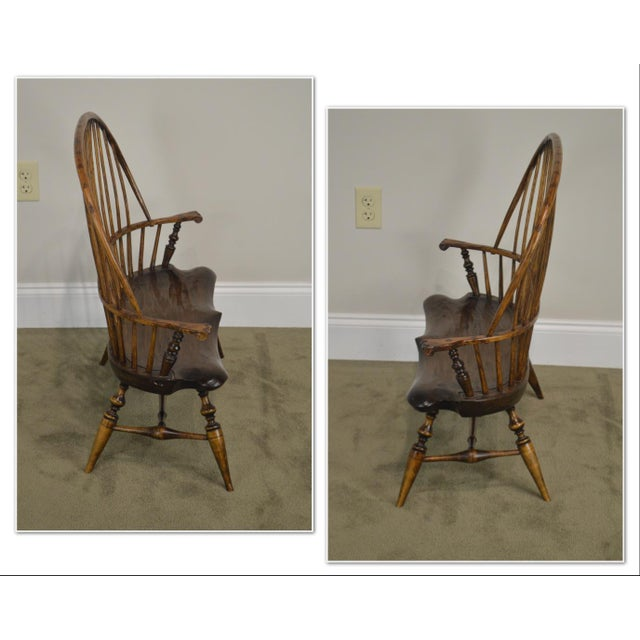 *STORE ITEM #: 19054 Windsor Style Hand Crafted Miniature Childs Settee by K. Malone (18th Century Reproduction) AGE /...