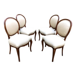 Early 20th Century Antique French Dining Chairs - Set of 4 For Sale