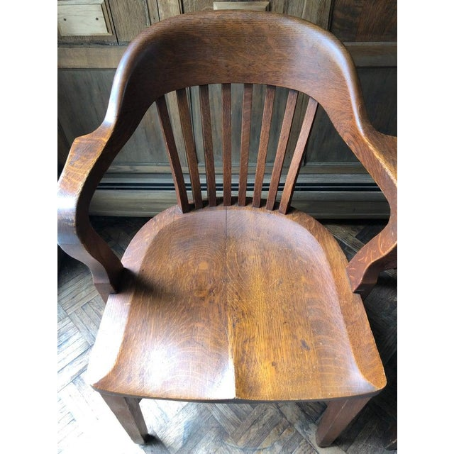 Swell 1920S Vintage Oak Desk Chairs A Pair Gmtry Best Dining Table And Chair Ideas Images Gmtryco