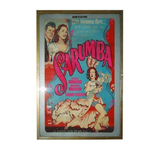 """Sarumba!"" Vintage Silkscreen Framed Movie Poster For Sale"