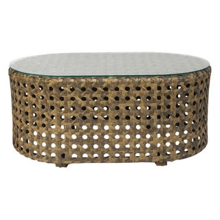 Outdoor Faux Rattan Coffee Table For Sale