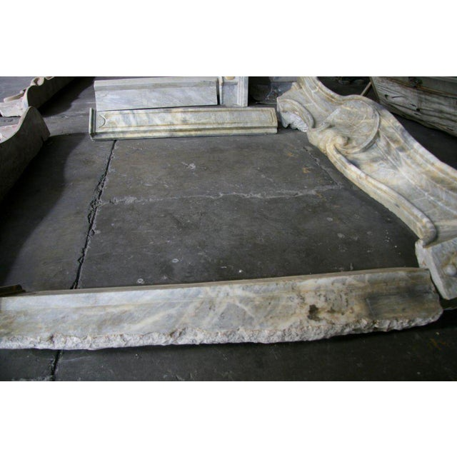 Stone 19th C. Italian Marble Fireplace For Sale - Image 7 of 11