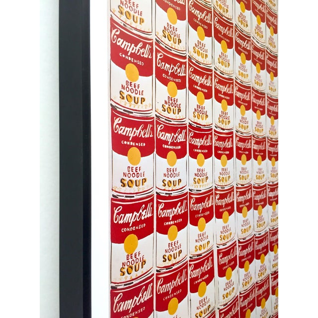 """Andy Warhol Rare Vintage 1978 Iconic Lithograph Print Framed Collector's Pop Art Poster """" 100 Cans """" 1962 For Sale In Kansas City - Image 6 of 13"""
