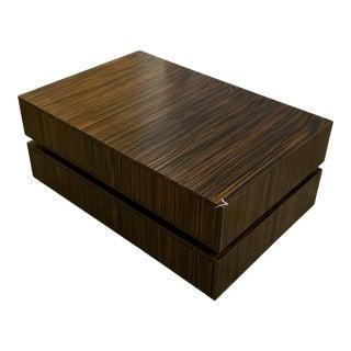 Contemporary Macassar Ebony Coffee Table For Sale