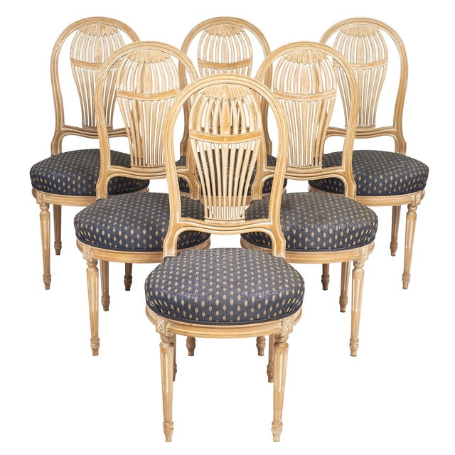 Louis XVI Style Céruse Dining Chairs For Sale - Image 10 of 10