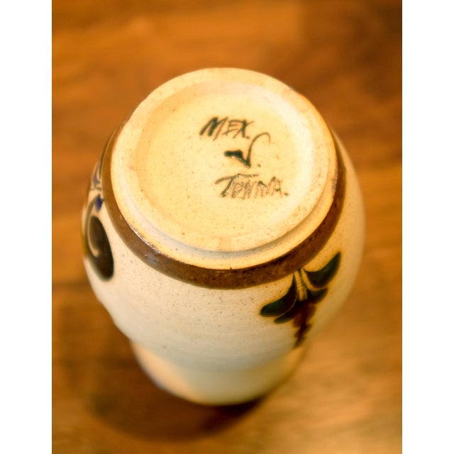 Ceramic Hand Painted Mexican Studio Pottery Ceramic Vessel For Sale - Image 7 of 8