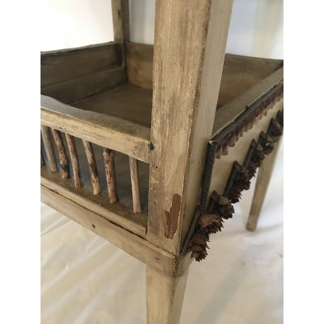 Adirondack Plant Stand or Side Table For Sale - Image 11 of 13
