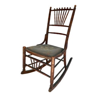 Mid 19th Century Antique Child's Rocking Chair For Sale