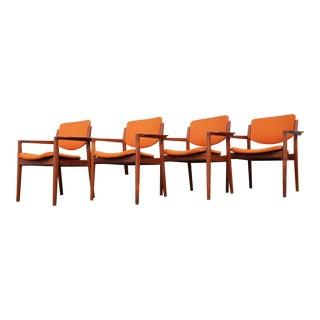 Finn Juhl for France & Son Danish Teak Dining Chairs- Set of 4 For Sale