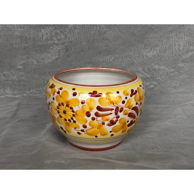1970s Vintage Italian Ceramic Pottery Indoor Planter For Sale - Image 5 of 13
