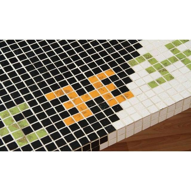 Huge Mid-Century Tile Mosaic Coffee Table - Image 4 of 5