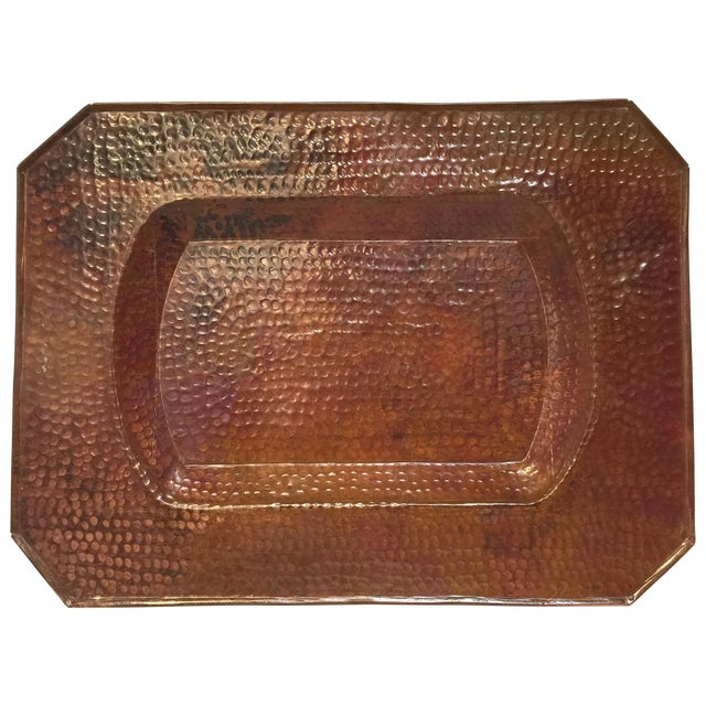 Vintage Mission Hammered Copper Tray - Image 1 of 5