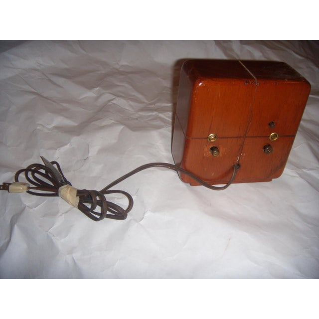 Art Deco Style General Electric Wood Alarm Clock - Image 9 of 9