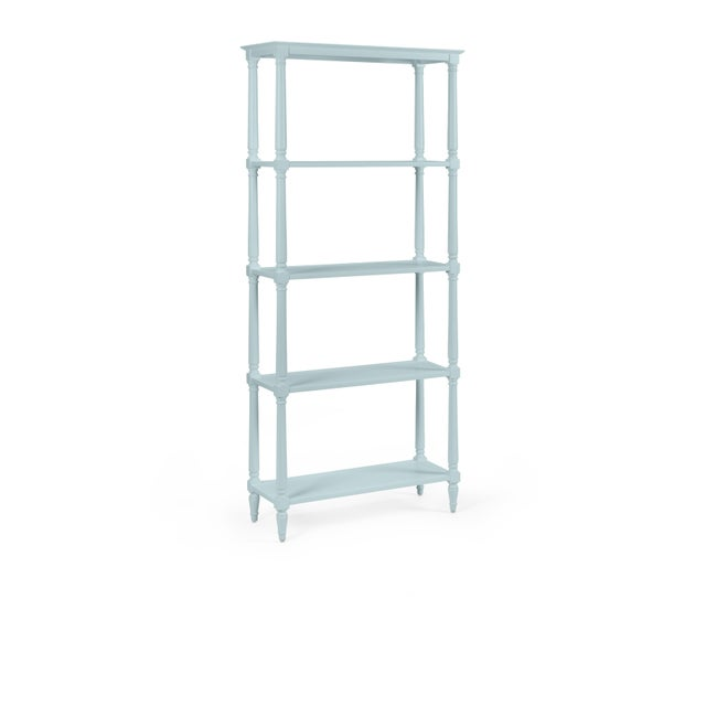Transitional Walker Etagere, Chiswell Blue For Sale - Image 3 of 3