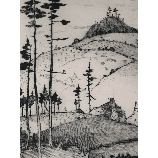 """""""Mountain Farms Near Spruce Pine, North Carolina"""" Etching by Harrison Cady For Sale - Image 12 of 13"""