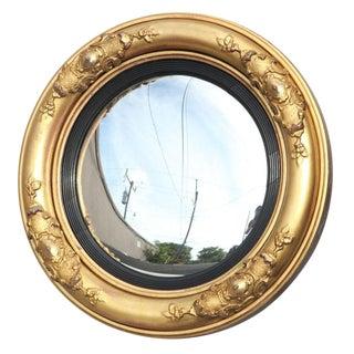 Period William IV Giltwood Convex Mirror For Sale