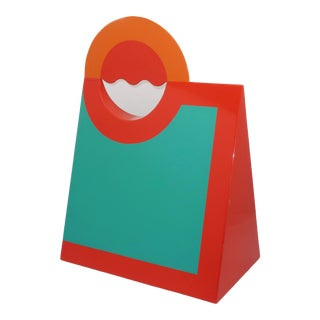'Shopping Bag' Lacquered Wood Pop Art Sculpture For Sale