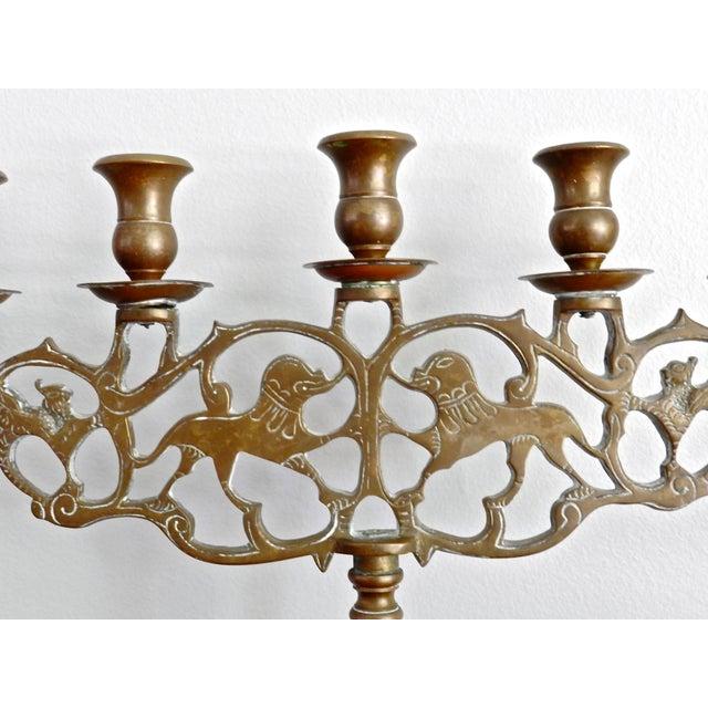 Vintage Brass Five Arm Candelabra - Image 3 of 7