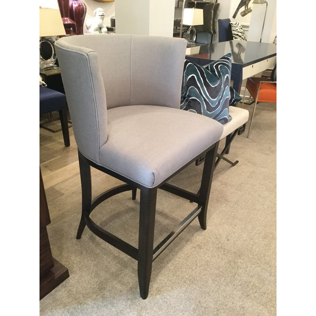 Fantastic Kravet Monaco Grey Linen Counter Stool Ocoug Best Dining Table And Chair Ideas Images Ocougorg