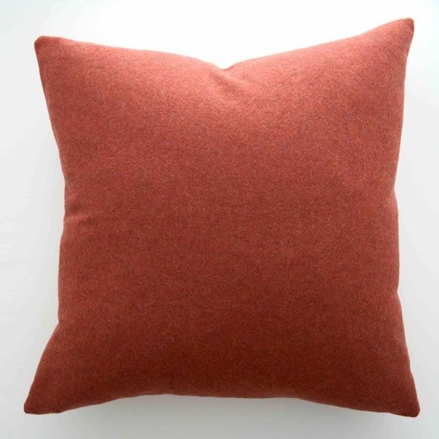 FirmaMenta Italian Orange Sustainable Wool Pillow - Image 8 of 8