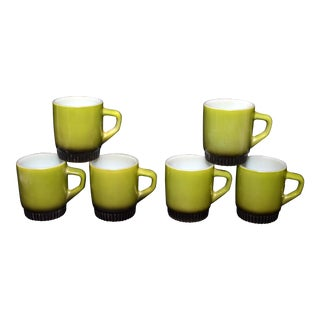Anchor Hocking Fire King Stacking Mugs - Set of 6