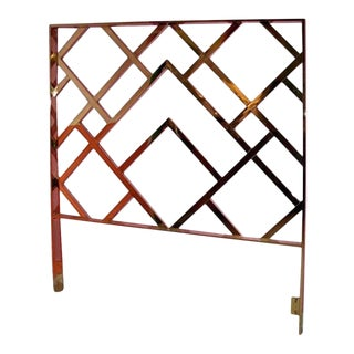 Vintage Milo Baughman Brass King Headboard Chinese Chippendale