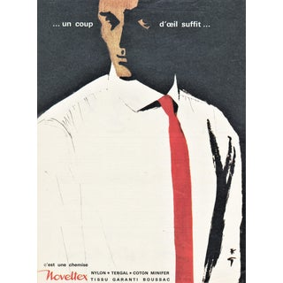 Matted Vintage Mid-Century Men's Fashion Print by Gruau For Sale