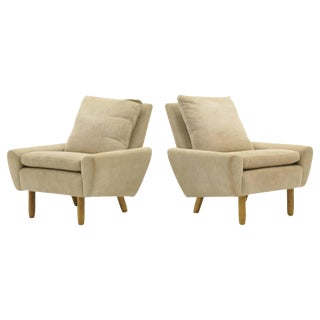 Pair of Danish Modern Lounge Chairs. Expertly Restored to Like New. For Sale