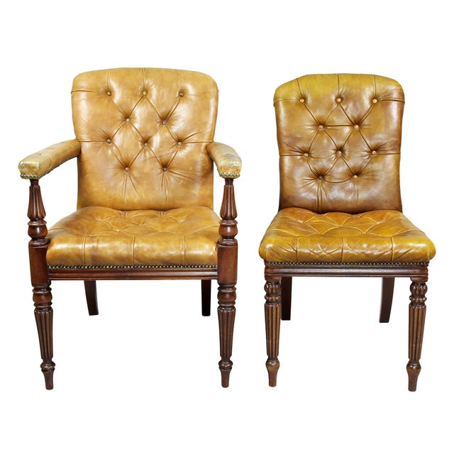 Regency Style Mahogany Dining Room / Conference Room Chairs - Set of 20 For Sale In Boston - Image 6 of 11
