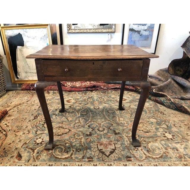 Antique English Farmhouse Mahogany Writing Table For Sale - Image 13 of 13