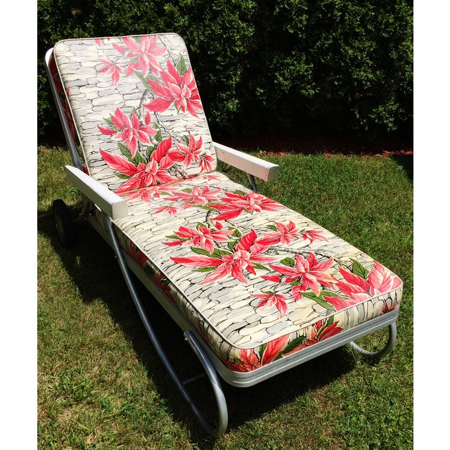 Vintage Bunting Aluminum Chaise Lounge Patio Chair Chairish