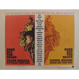 """1965 Original American Movie Poster - """"None but the Brave"""" With Frank Sinatra For Sale"""