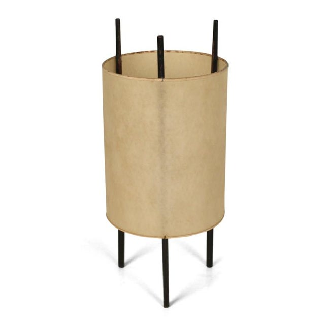 "Mid-Century Modern Isamu Noguchi for Knoll ""Cylinder"" Table Lights - Set of 3 For Sale - Image 3 of 5"