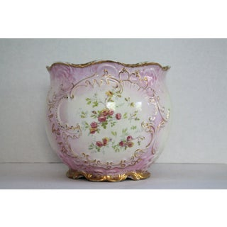 Limoges Hand Painted Cachepot Preview