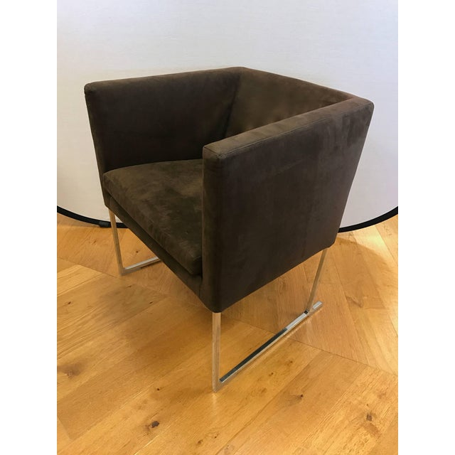 B&b Italia Atonio Citterio Brown Suede Armchair For Sale In New York - Image 6 of 6