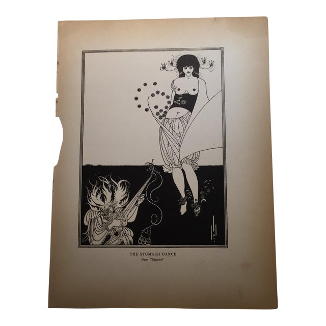 Dance From Salome Print by Aubrey Beardsley 1927 For Sale