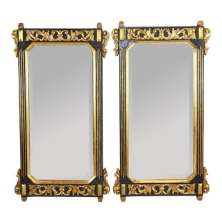 Regency Carved Giltwood Mirrors - a Pair For Sale