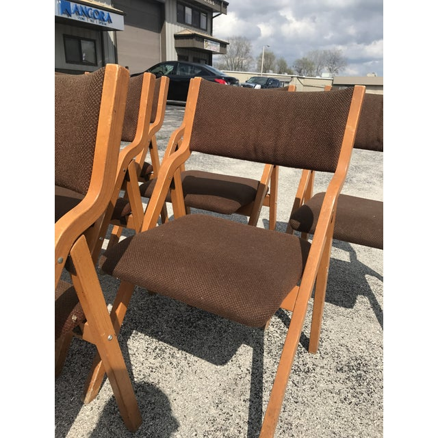 Mid-Century Modern Folding Chairs - Set of 6 For Sale In Milwaukee - Image 6 of 8