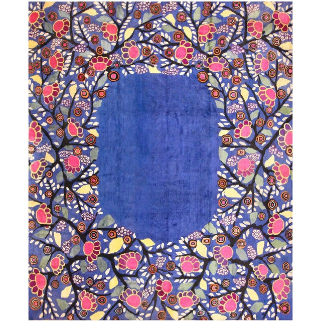 Gray Edouard Benedictus French Deco Rug - 10′10″ × 13′2″ For Sale - Image 8 of 8
