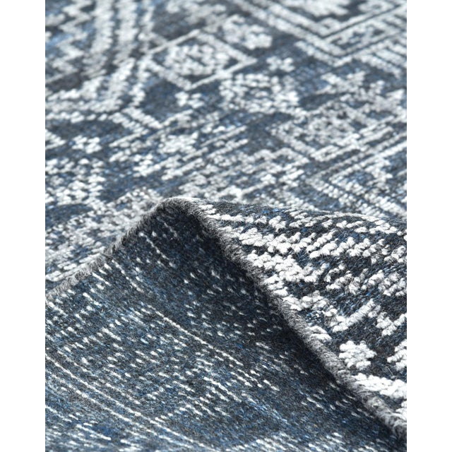 2020s Quinn, Contemporary Transitional Hand-Knotted Runner Rug, Navy, 2' 6 X 8 For Sale - Image 5 of 8