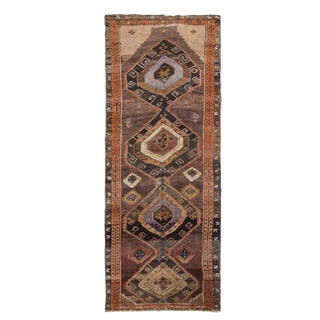 1960s Vintage Turkish Wool Rug - 5′2″ × 13′5″ For Sale