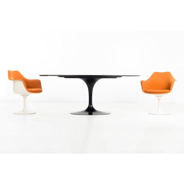 1950s Eero Saarinen Black Granite Tulip Table For Sale - Image 5 of 9