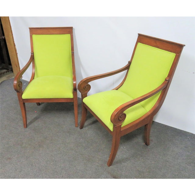 Ethan Allen Regency Style Chairs- a Pair For Sale - Image 9 of 11