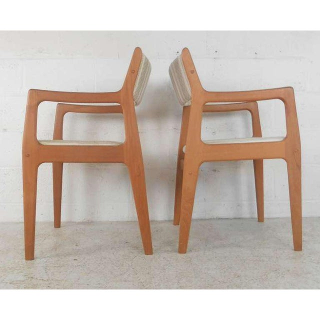 Teak Danish Modern Dining Chairs - Set of 6 For Sale - Image 7 of 9