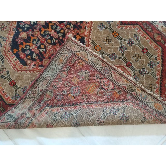 "1900's Leon Banilivi Antique N.West Persian Rug, 3'7"" X 10'6"" For Sale - Image 4 of 6"