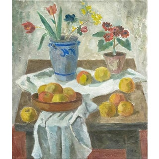 Harald Leth Flowers and Apples, Circa 1935 For Sale