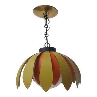 Mid Century Modern Flower Petal Globe Pendant Light Fixture Flower