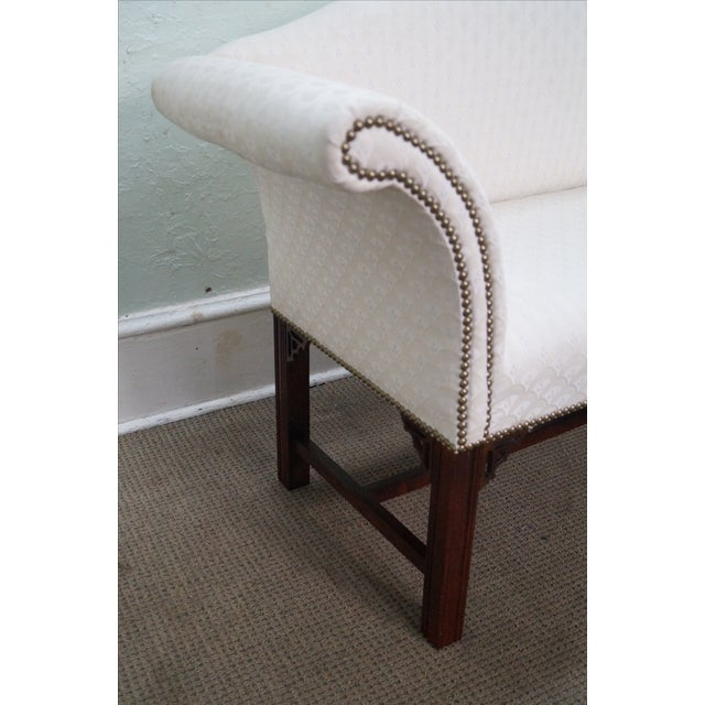 Chippendale-Style Settee Bench For Sale - Image 5 of 8
