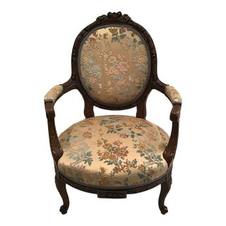 Late 19th Century Louis XVI Style Armchair For Sale